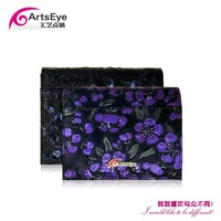 New 2014 Women Two Fold Short Personalized Fashion Korean Style Cowhide Genuine Leather Brand Wallets , Drop Shopping