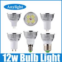 2pcs 12W E27/E14/Gu5.3/Gu10/Mr16 DC12V 110V 220V 230V CE Warm/Pure/Cold/White High Power Led Lamp/Spot lighting WSP10