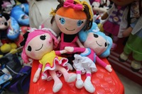 (3pieces/lot) 2014 Newest 25cm lalaloopsy plush soft toy stuffed lalaloopsy doll girl gift