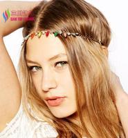 2014 new arrival fashion luxury colorful faux stone rhinestone elastic headbands hair accessories jewelry for women bijoux