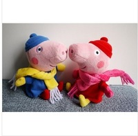 Frozen Rushed Red Blue Unisex 2-4 Years Minion The New 2014 Pig Sister Doll George Doll/plush Toys / 20cm Free Shipping