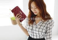 2014 Ms. Qian header layer of leather lambskin European style soft face sheepskin wallet Wallet