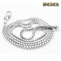 Cheap High Quality  316L Stainless Steel Box Chain Necklace For Men  5 piece/lot Free shipping