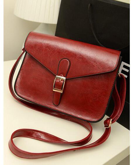 2014 new Korean shoulder bag diagonal women handbags messenger bags burgundy bag packet pu bag(China (Mainland))