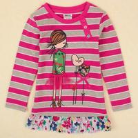 peppa pig T shirt Nova brand clothing printed cartoon snowman spring autumn causal long cotton T-shirt for baby girls F4846#