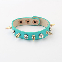 Wholesale Handmade Punk Rivet Leather Bracelets