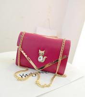 2014 spring and summer fashion chain women's handbag elegant crystal small fox decoration shoulder bag cross-body small bags