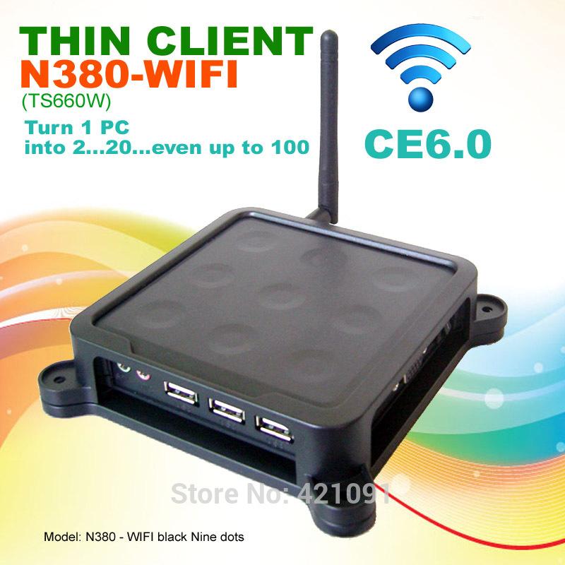 N380W ( TS660W ) Black Nine Dots MINI PC CE 6.0 Thin Client Flash XP 2000 Server
