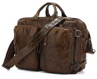 100% Guarantee men Genuine Leather Backpack Full Grain Leather School Backpack Travel bag Duffle Luggage Bag Tote 2014 New