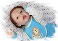 55cm 22'' Super simulation reborn baby dolls doll soft silicone vinyl handmade children birthday present  Free shipping