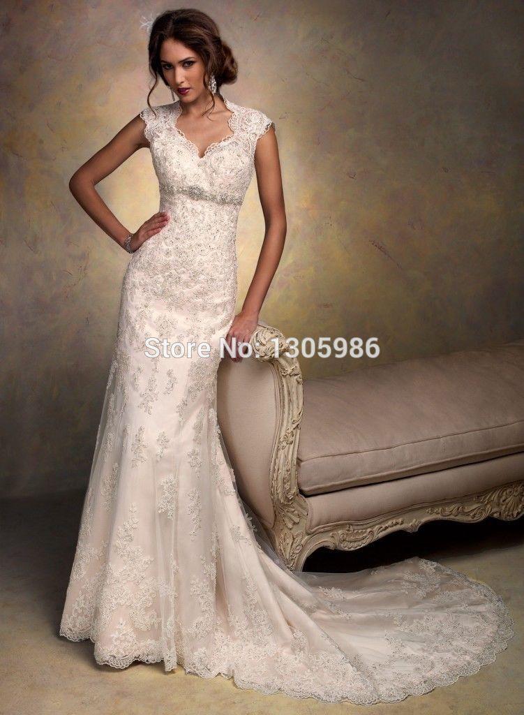 Lace Mermaid Wedding Dress Size 16 : White ivory lace wedding dress mermaid bridal gown custom size