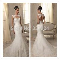 Sexy Backless Mermaid Wedding dress Bridal Gown Custom Size 6-8-10-12-14-16+++