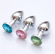 Prostate Massager Anal masturbação aço inoxidável + jóias cristal Booty Beads produtos do sexo brinquedos sexuais para homens e mulheres brinquedos sensuais(China (Mainland))