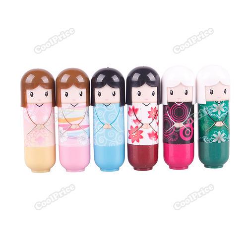Latest Style coolprice 1PCS Doll Lip Balm Lovely Cute Baby Girl Lip Balm Lipstick Worldwide free shipping Brand New(China (Mainland))
