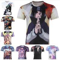 Cartoon characters Printed 3D T-shirts Punk 3D Short Sleeve T- Shirt XS- 6XL, cycling Men 's T- Shirts slim sport t shirt