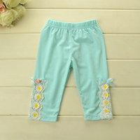 2014 Summer  leggings for girls soild color Daisy Lace pantskirt Cotton 5pcs/lot Wholesale wx2006
