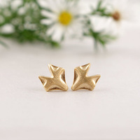 2014 New Arrival Fashion Fox stud Earring Tiny Stud color gold/silver/rose gold 30 pairs/lot Free Shipping