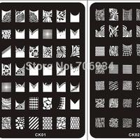 Nail Stamping Plates stamper Konad Nail Plate  3Pcs Stamp Image Plate Nail Art Stamping Kit DIY Image Plate Template CK01-18