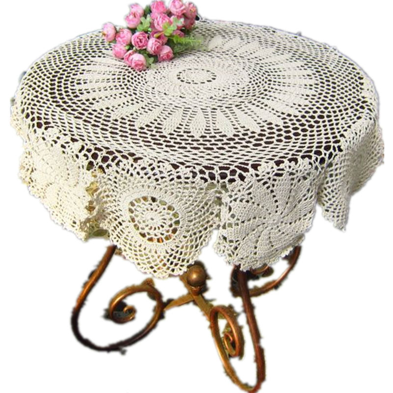 handmade crochet tablecloths round doilies Crochet flower crafts cotton retro cover Cloth for wedding decoration [Can custom]9(China (Mainland))