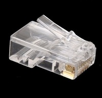 LOWEST price !! 100pcs Crystal RJ45 CAT5 Modular Plug Rj-45 Lan Network Connector networking adapter , Free & Drop Shipping