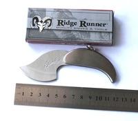 Free Shipping Creative Mango Leaves Modeling Knife Keychain Pocket Folding Knife All Stainless Steel Fruit Knife