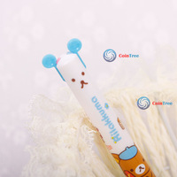 Economic benefit cointree 1 2 4 Pcs Funny Cute Two-color Changable Home Office Study Bear Ballpoint Pen High Quality DIY