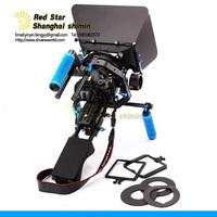 Professional DSLR RIG Kit - Shoulder Mount RL-04 + Follow Focus M3 + MatteboxM3 Filmmaker's Tool Kit For dv / hdv / dslr Camera