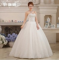 Satin Wedding Dress 2014 Married Diamond Tube Top Bandage Wedding Dress Formal Dress Princess Dress