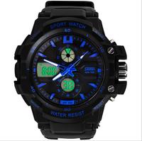 Skmei Brand Men Sport Watch 2014 Analog Digital Sport Watches for Men Water Resistant  30m Alarm Stop Watch Calendar Hot Sales