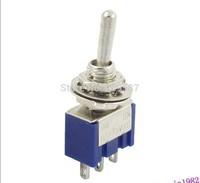 10pcs/lot 3-Pin SPDT ON-ON Mini Toggle Switch 6A 125VAC Mini Switches