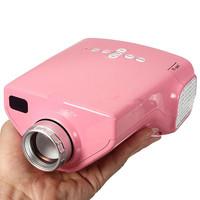 Pink 1080P HD LED Mini Portable projector Home Cinema Projector With USB TF Card AV VGA HDMI TV Port