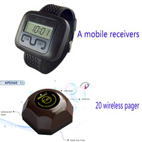 Mobile wireless pager radio paging system wireless call system burger shape