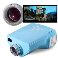 Blue 1080P E03 Mini  HD LED projector Digital Portable Home Cinema Video Theater Projector With USB TF Card AV VGA HDMI TV Port