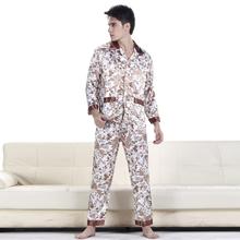 Free Shipping men's Silk pajamas for nightshirts tracksuits dressing gown sleepwear Loungewear pyjamas men drop shipping(China (Mainland))