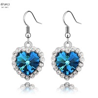 drop earrings limited new trendy women heart brinco brincos grandes 2014 love earrings austrian crystal ray fashion