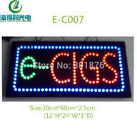 Hidly brand  LEDe-cigarette display /LED smoke shop sign /12*24inch energy saving led open sign ( E-C007)
