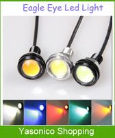 10PCS 18mm12V 9W Ultra-thin Car Eagle Eye Lamp LED  Day Running Lights High Power&Screw Energy Saving Car LED Reverse Light Lamp