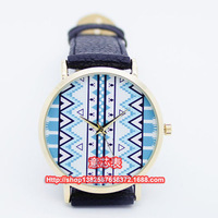 New Designs 100pcs/Lot Hot Selling Leather Aztec Watches For Ladies Women Dress Watch Quartz Watches