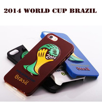 Back Shell Case for iPhone 5 5S 5G World Cup Football Brazil Plastic Protective Antidust Fashionable 5 Colors Free Shipping