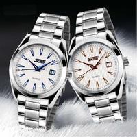 Skmei Brand Quartz Watch Stainless Steel Men Watch Wind Hand Luminous 30m Water Resistant Calendar