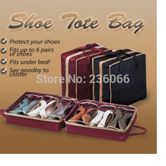 Free Shipping 061 Travel Waterproof Ventilation Folding Shoes Storage organizer Portable Closet women/men shoe bags 35*20*40(China (Mainland))
