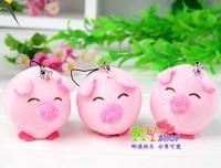 High quality Cute plush piggy 6cm plush phone pendant,phone charm Spilling wedding presents
