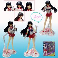 Shipping Anime Sailor Moon Hino Rei PVC Action Figure c1695