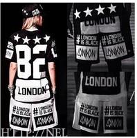 New 2014 harajuku Women and men Hip hop hiphop shorts Street dance Sports Casual Fashion Summer Punk rock style BK-09