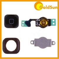 Full Set Home Menu Button Assembly Key Cap +Flex Cable +Spacer Set +Bracket Holder for iPhone 5 5G Replacement Parts