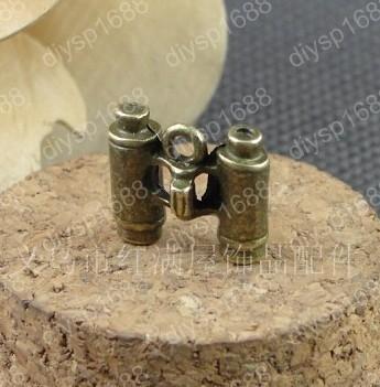50pcs / lot liga de zinco de bronze antigo chapeado 14 * 15MM telescópio Charme Pingentes Fit Jóias Fazendo JHA2742 DIY(China (Mainland))