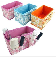 Bling Recommend Free Shipping Top Seller 1pcs/lot Flowers Woven Cosmetic Storage Box Multicolor Gift For Family 18*10.5*10cm