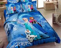 New Bedding Sets Comforter Set Princess Elsa Olaf Bed Set Frozen Quilt Cover + Frozen Bed Sheet