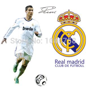grote ster c ronaldo voetbal sport voetbal muursticker muur sticker ...