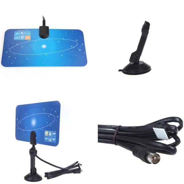 Good Quality Indoor TV Antenna Receiver,Digital Indoor TV Antenna HD TV HD VHF UHF Flat Design High Gain(China (Mainland))